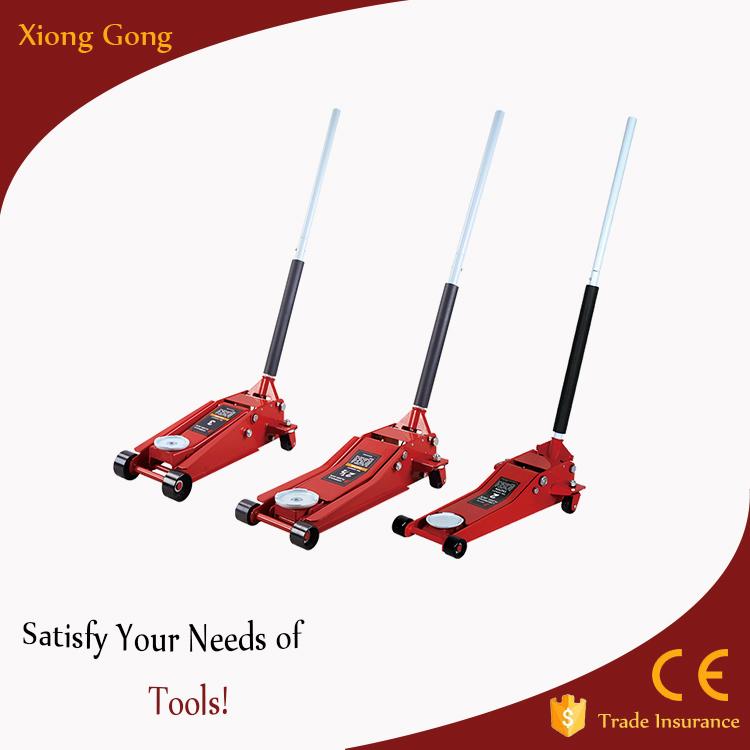 2T 2.5T 3T 500mm Working Range HYdraulic Floor Jack with safety system