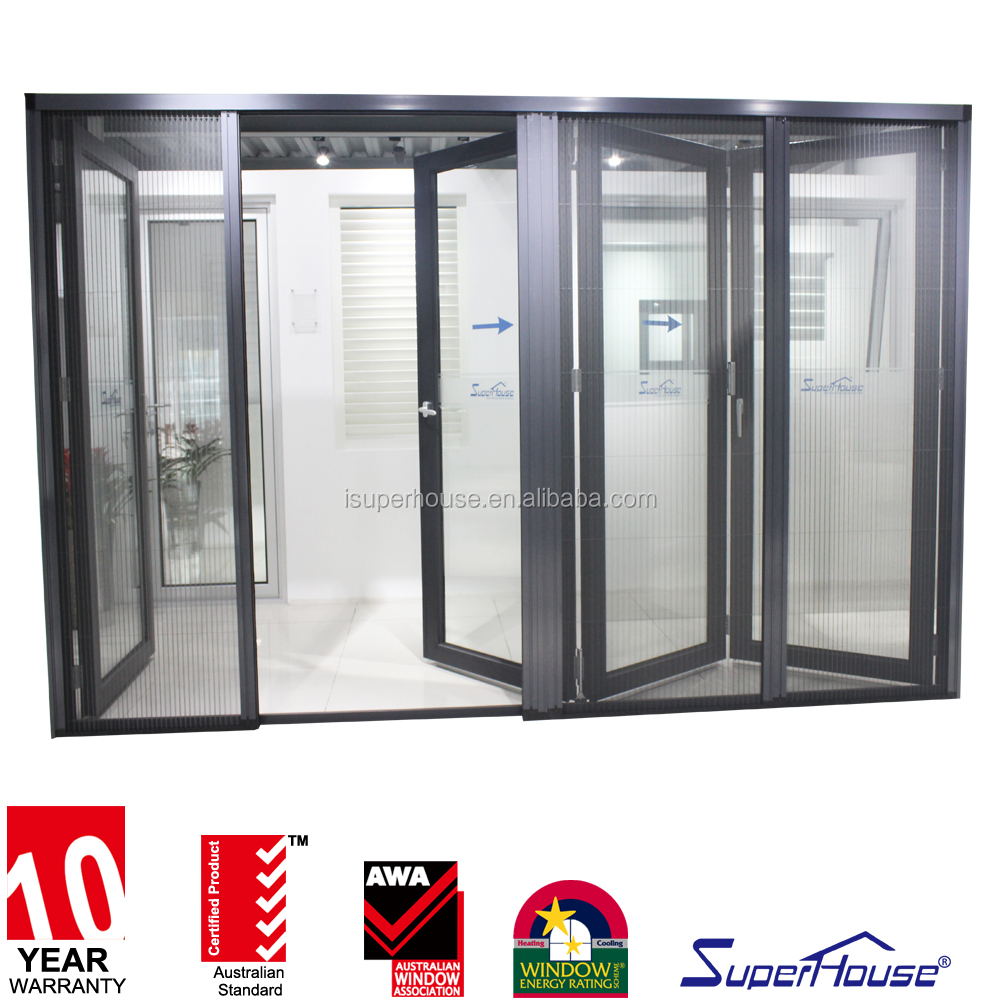 10 years warranty China supplier CSA cerificate aluminum frame exterior glass bifold doors and windows