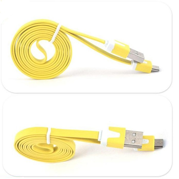 Noodle Micro usb y cable splitter 1 female 2 male for Samsung flat usb cable for android