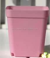 Colourful plastic flower pot cheap square plant pot small nursery pot