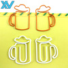 Hight Quality personalized beer glass metal wire paper clips cup