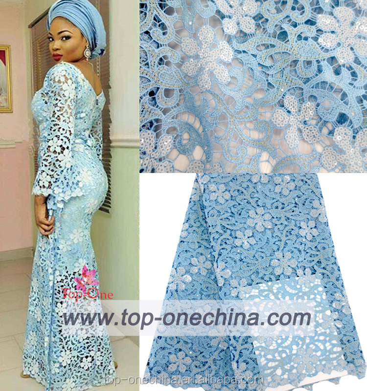 HIgh quality wholesale asoebi lace african beaded sequin lace fabric