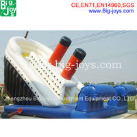 Cheap price The Titanic Inflatable slide For Sale