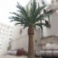 Large artificial canary date steel fiberglass palm tree for indoor and outdoor