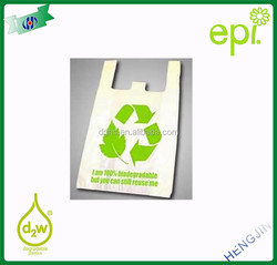 HDPE/LDPE plasticT-Shirt Bags for restautant or shopping