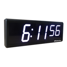 "Digital NTP Clocks for Workshop, 4"" x 6 White Digits, Black Plastic Casing"