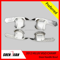 ABS Chrome Door Handle Cup Bowls Insert Cover toyota accessories 4 Pcs For 2012 Hilux Vigo Champ Toyota truck 4x4 car accessorie