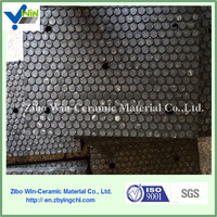 Wear resistant alumina ceramic rubber composite plate for mining equipment