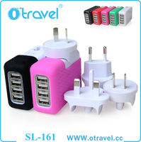 Port USB Travel Wall Charger with SmartID Technology, Foldable Plug for iPhone 6S 6 Plus, iPad Pro/Air/Mini, Samsung Galaxy S7 S