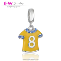 Bulk Fashion Jewelry Sports Ball Uniform Silver Custom Logo Charms