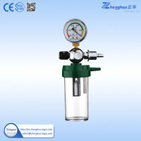 Portable medical vacuum suction bottle with regulator