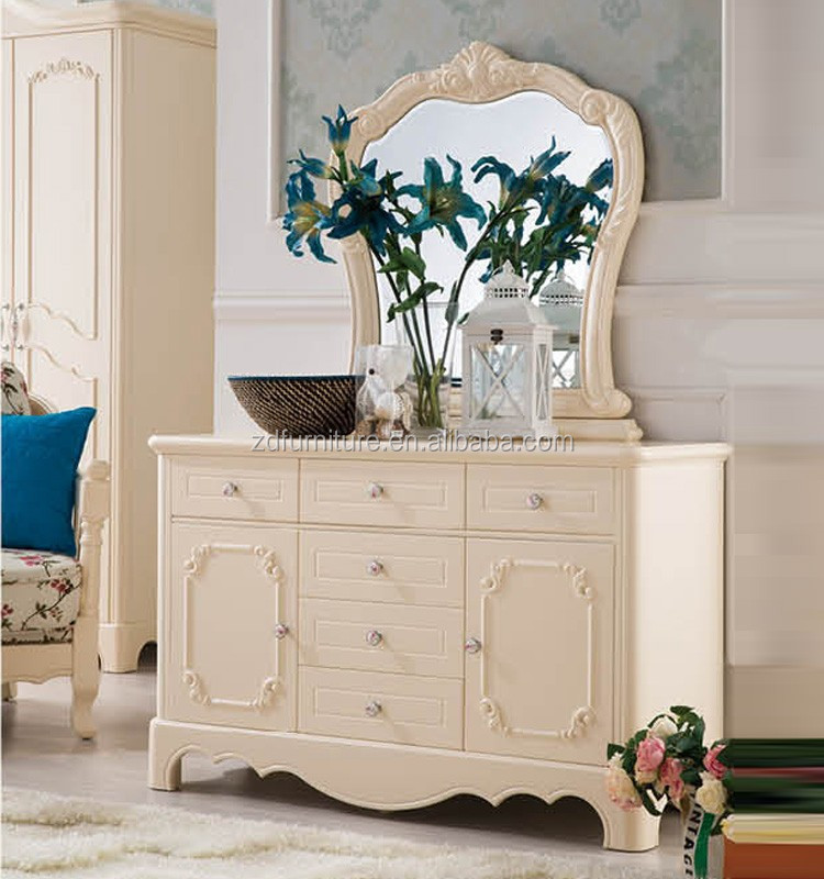 Floral Painted Storage wooden Console dresser