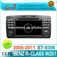 Wholesale Car DVD for Mercedes Benz R Class W251 with gps/v-cdc/radio/audio/dvd/canbus/bt/ipod,Original Car Interface !!