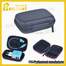 wholesale waterproof customized fashion eva black hard disk case