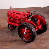 "Vintage Looking Antique 6"" Handcrafted vehicle Car Model tractor"