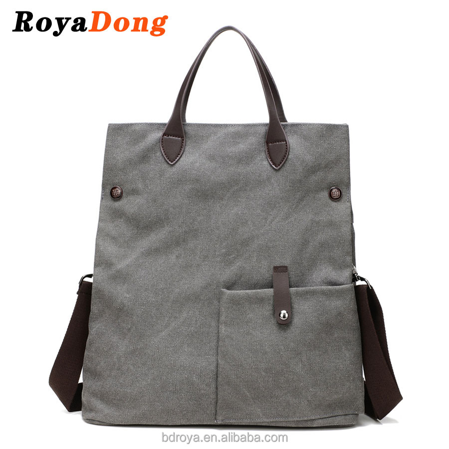 RoyaDong Women Shoulder Bags Vintage Canvas Messenger Bags High Quality Big Handbag Cross Body Bag
