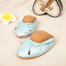 Walking shoes leisure ladies elastic band foldable ballet shoes