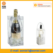 Hot Selling Promotion Portable collapsible plastic PVC Wine bottle Cooler Bag