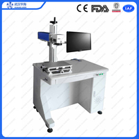 Huahai 2d code/texts/photo/image/serial number fiber laser marking machine price with 2 years warranty