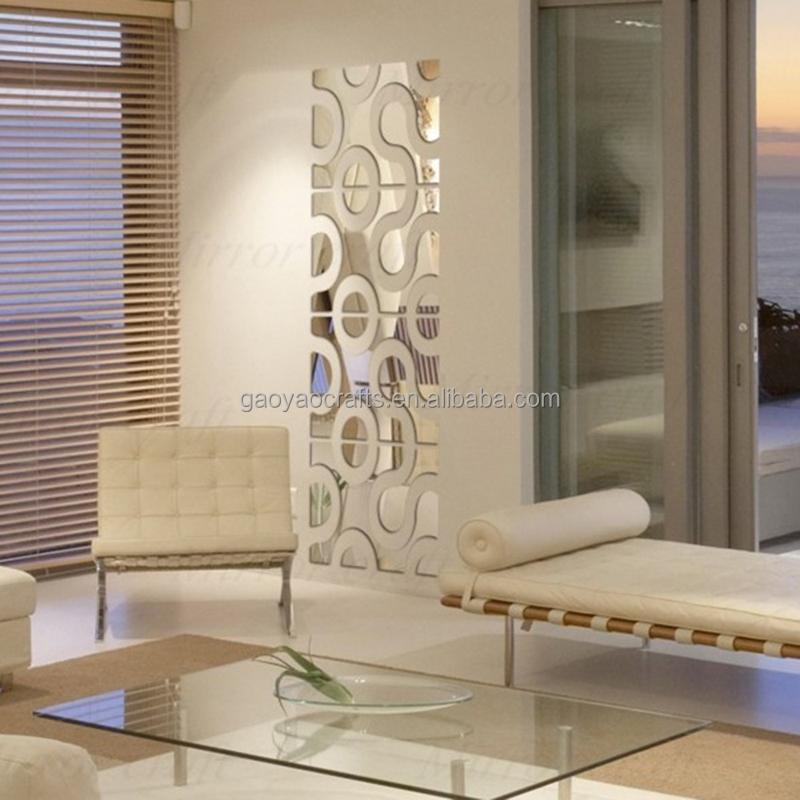 memoria e ir extrables adhesivas 3d azulejo de la pared bao marco del espejo etiqueta de