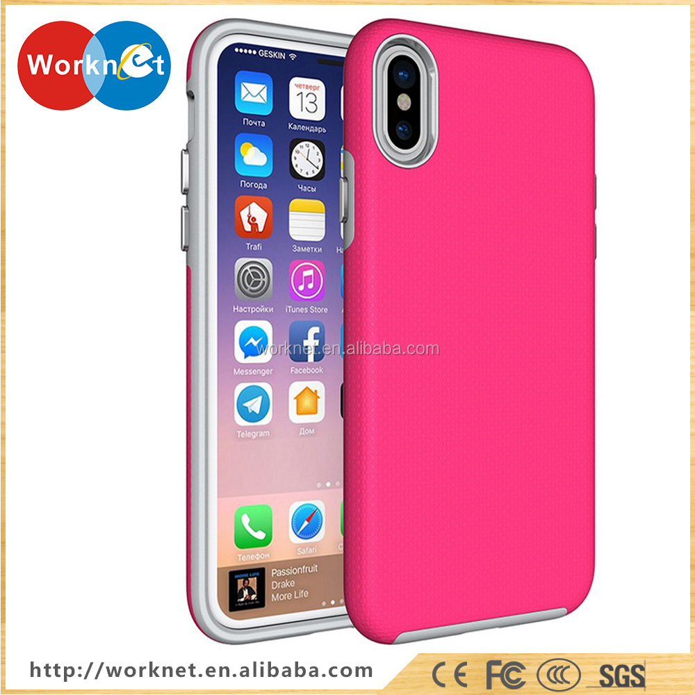 2017 hot selling China supplier Alibaba custom cover case for iphone X ,for iphone X colorful case , for iphone X case-Red color