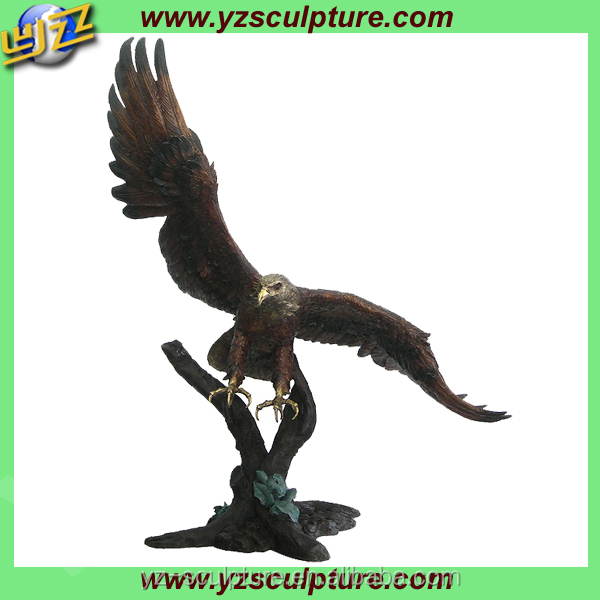 large bronze flying eagle statues for decoration