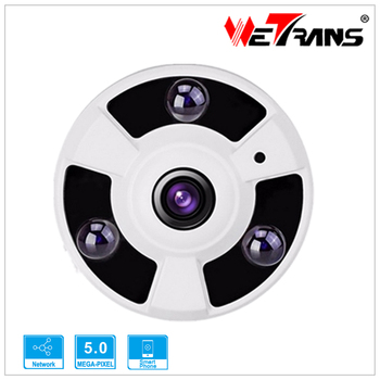 Full HD 5MP Indoor IP Camera Fisheye Lens 1.8mm P2P Cloud 5.0MP Dome IP CCTV Camera