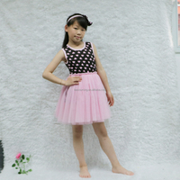Girl sweet pink heart tutu dress puffy tutu dress girl tulle princess dress with cute bow