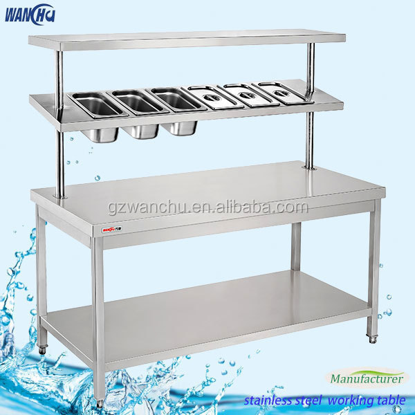 Commercial kitchen worktable304 stainless steel work table with top commercial kitchen worktable304 stainless steel work table with top spile shelf in israel workwithnaturefo