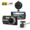 4 Inch IPS Vehicle Blackbox DVR Dual Camera Full HD 1080P WDR Perfect Night Vision
