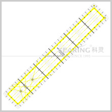 Sew Clear Acrylic Handicraft patchwork ruler Quilting Ruler with Grids for Fashion Design #kpr3005