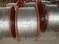 Hot galvanized steel wire rope 7x19 + FC CABLE DE ACERO GALVANIZADO lifting and gear equipments
