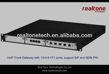 High quality!!! ISDN PRI T1 gateway with 1/2/4 E1/T1 ports