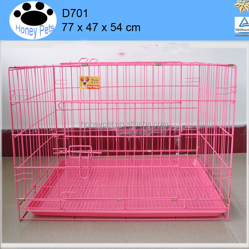 2016 iron aluminum 77 cm pink color dog cage sale