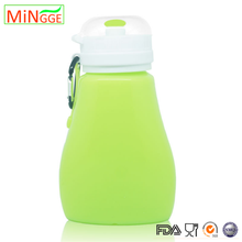 promotion Collapsible silicone rubber sports water bottle with filter
