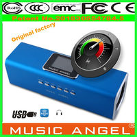 MUSIC ANGEL 2013 new products rechargeable digital portable speaker with lcd screen