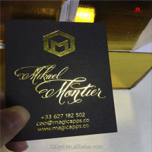 Embossed visting business card design Hot stamping gold foil business card printing