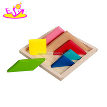 2016 Promotion education toy wooden tangram puzzle W11D003