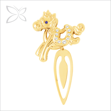 Fancy Gold Plated Metal Horse Chinese Zodiac Bookmark
