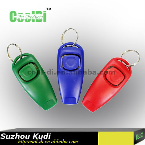 Pet products dog training clicker with whistle