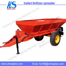 big farm land used fertilizer spreader cart with tractor
