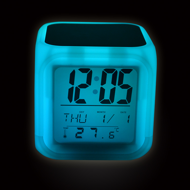 Minimalistic Blanks LED Color Change Digital Alarm Clock for Sublimation from LOPO