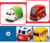 4pcs assorted pull back mini police vehicles alloy toy diecast die cast model car for kids