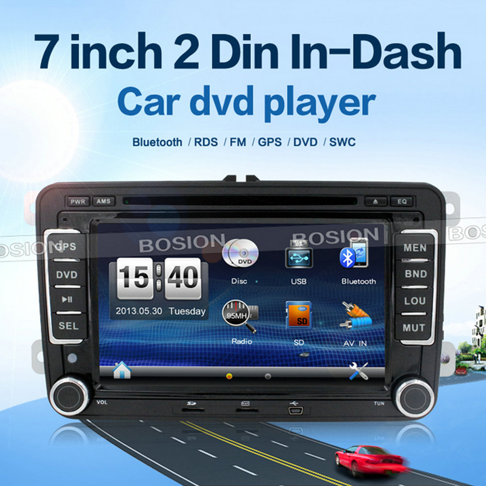 "7"" Touch Screen 2 Din Car DVD GPS for VW Jetta Volkswagen DVD Player with Canbus Rear Vew Camera"