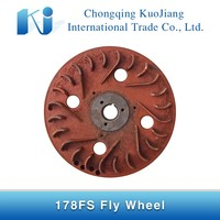 178FS Diesel Engine Fly Wheel Part,Fly Wheel with pulley