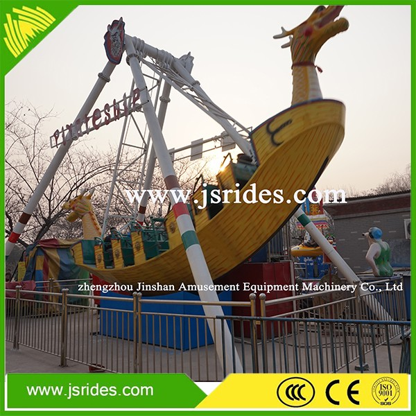 11 years Professional Amusement Rides Manufacturer 24 seats Large Pirate Ship For Sale