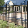 High quality powder coated black decorative garden picket fence