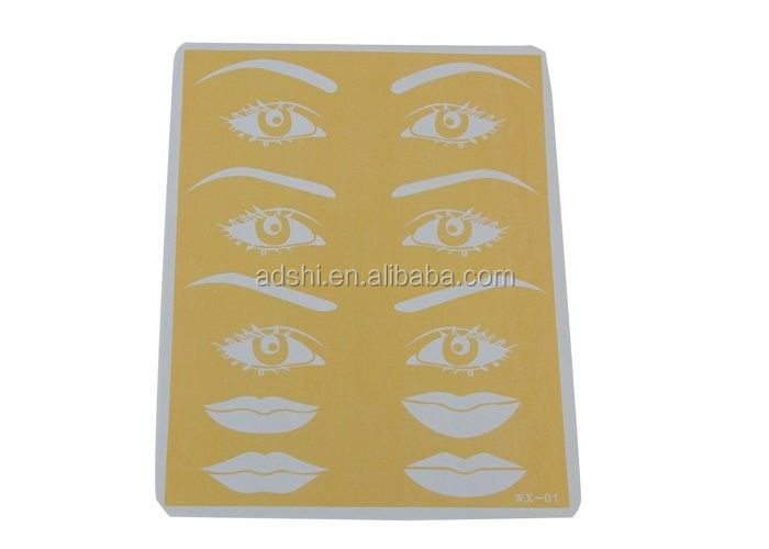 3D face lips & nose & eyes & eyebrows for permanent makeup beginners practice skin