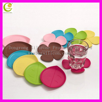 unique cool shape various style food grade flexible silicone rubber cup mats