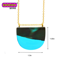 Factory Wholesale Handctafted Wooden Resin Pendant